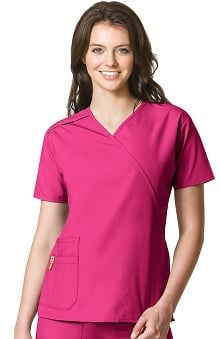 Origins by Wonderwink Women's Juliet Mock Wrap Solid Scrub Top