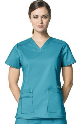 WonderFLEX by WonderWink Women's Verity V-Neck Solid Scrub Top