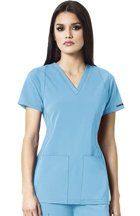 High Performance by Wonderwink Women's Sync V-Neck Solid Scrub Top