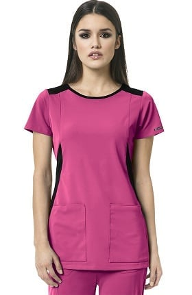 High Performance By Wonderwink Women's Neo Boatneck Solid Scrub Top