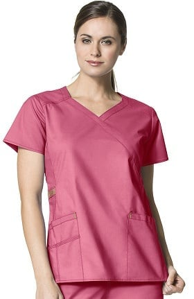 WonderFLEX by WonderWink Women's Charity Y-Neck Solid Scrub Top