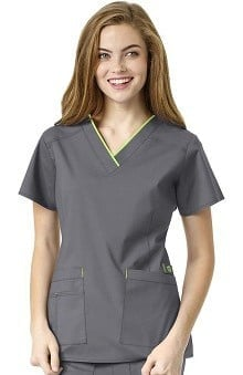 WonderFLEX by WonderWink Women's V-Neck Solid Scrub Top