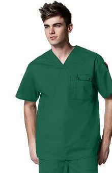 WonderFLEX by WonderWink Men's Honor V-Neck Utility Solid Scrub Top