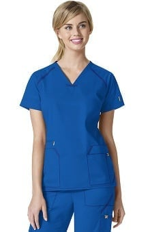7Flex by WonderWink Women's V-Neck Solid Scrub Top