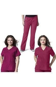Plus by WonderWink Women's 2 Tops 1 Pant Scrub Set