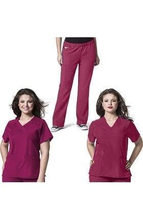 Plus by WonderWink Women's 2 Tops 1 Pant Scrub Set