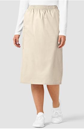 WonderWORK Women's Elastic Waist Cargo Scrub Skirt