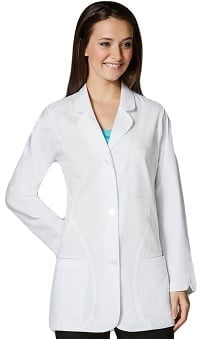 "Wonderlab by WonderWink Women's Curved Hem 33"" Lab Coat"