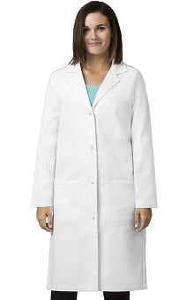 "Wonderlab by WonderWink Women's Knot Button 42"" Lab Coat"
