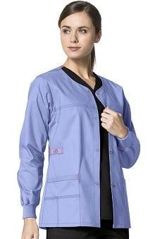 Clearance WonderFLEX by WonderWink Women's Constance Snap Front Solid Scrub Jacket