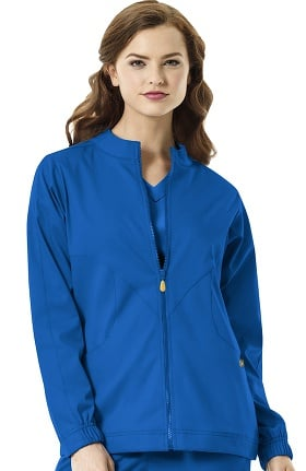 Next by WonderWink Women's Boston Zip Front Warm Up Scrub Jacket