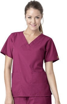 Clearance Carhartt Women's V-Neck 2-Pocket Solid Scrub Top
