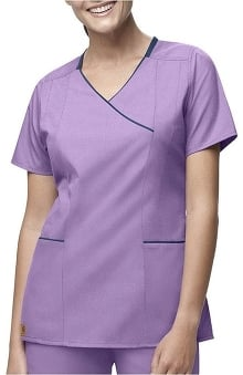 Scrubs: Carhartt Women's Y-Neck Contrast Solid Top