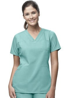 Scrubs: Carhartt Women's 4 Pocket Y-Neck Solid Top