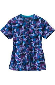 Clearance Carhartt Women's V-Neck Camouflage Print Scrub Top