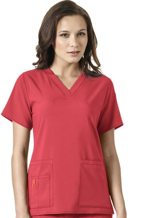 Clearance CROSS-FLEX by Carhartt Women's V-Neck Media Solid Scrub Top
