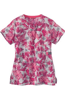 Clearance Carhartt Women's Y-Neck Floral Print Scrub Top