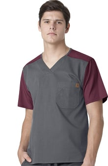 Carhartt Men's Color Block Utility Solid Scrub Top