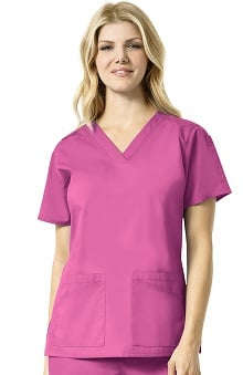 Rockwall by Carhartt Women's V-Neck Solid Scrub Top