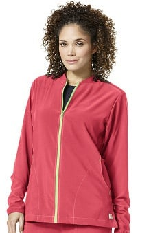 Cross-Flex by Carhartt Women's Zip Front Solid Scrub Jacket