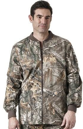 Carhartt Men's Zip Front Abstract Print Scrub Jacket