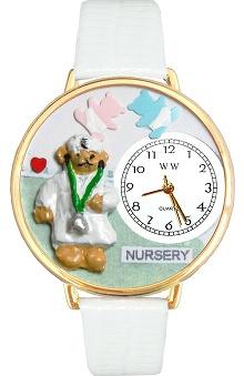 Whimsical Gifts Teddy Bear Nurse Watch