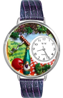 Whimsical Gifts Wine & Cheese Lover Watch