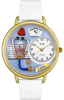 Whimsical Gifts Blue Face Nurse Watch