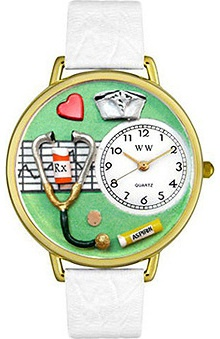 Whimsical Gifts Green Face Nurse Watch