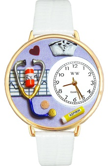Whimsical Gifts Purple Face Nurse Watch