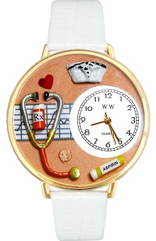 Whimsical Gifts Orange Face Nurse Watch