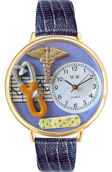 Gifts Accessories new: Whimsical Watches Unisex Purple Face Nurse Watch