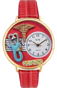 Gifts Accessories new: Whimsical Watches Unisex Red Face Nurse Watch