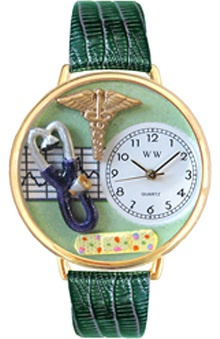 Gifts Accessories new: Whimsical Watches Unisex Green Face Nurse Watch