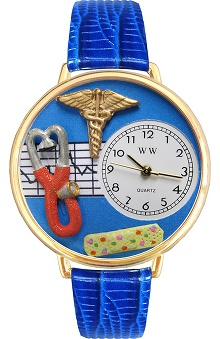 Gifts Accessories new: Whimsical Watches Unisex Blue Face Nurse Watch