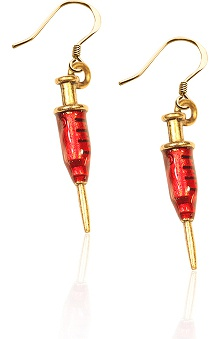 Whimsical Gifts Syringe Charm Earrings