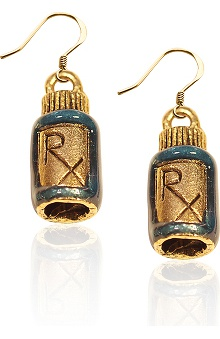 Whimsical Gifts Rx Charm Earrings