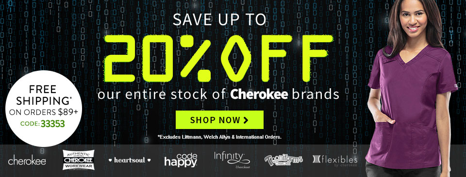 Cyber Monday 20% Off Cherokee