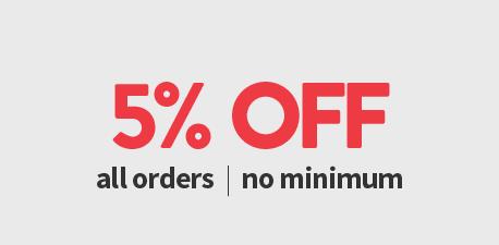 5% Off No Minimum Purchase