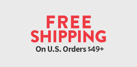 Free Shipping on purchase of $49 or more.