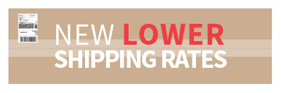 New Lower Shipping Rates