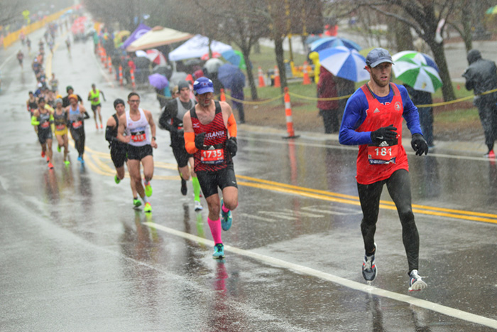 Runners during 2018 Boston Marathon
