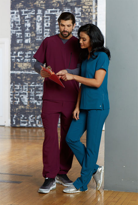 Nurses wearing Barco One scrub sets