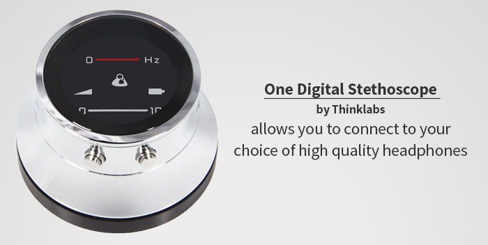 Digital stethoscope without hollow tube styling