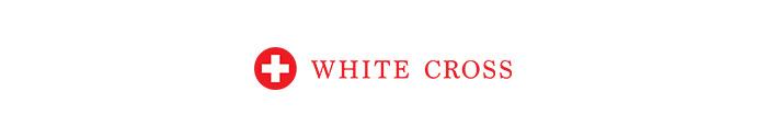 White Cross scrubs brand logo