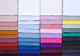 Colorful fabric palette