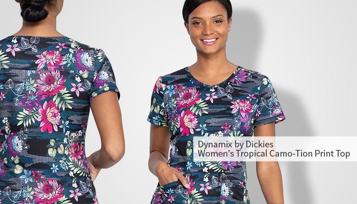 dynamix by dickies tropical print top