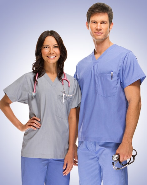 health care providers wear comfortable flattering scrubs