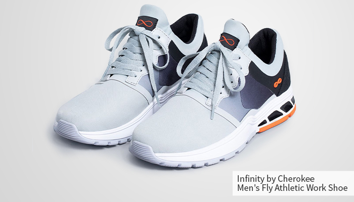 infinity by cherokee fly athletic work shoe for men
