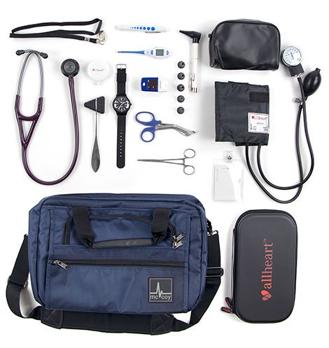 Diagnostic tools nurses keep in nursing bag
